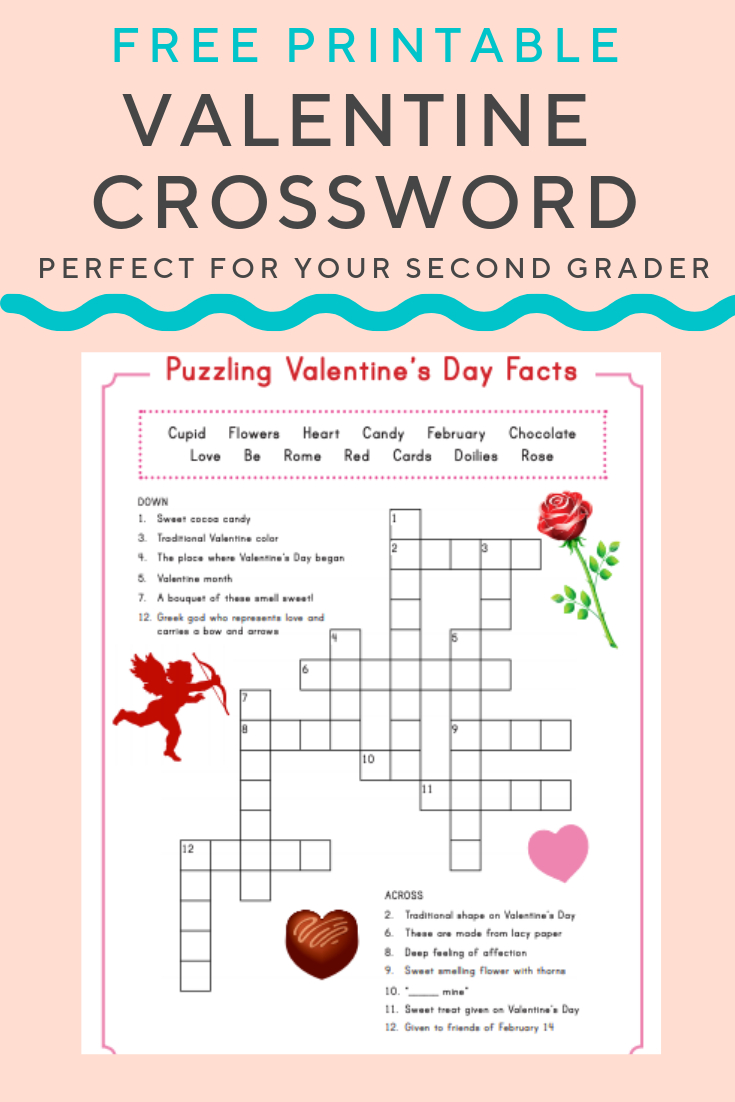 Valentine Crossword | Elementary Activities And Resources - Valentine Crossword Puzzles Printable