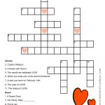 Valentine Crossword Puzzle   Sunshine And Rainy Days   Printable Crossword Puzzles About Love