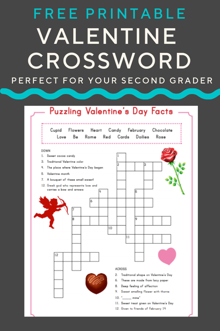 Valentine Crossword | Puzzles And Mazes | Valentines Day Words - Free Printable Valentine Puzzles For Adults