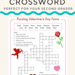 Valentine Crossword | Valentine's Day | Valentines Day Words   Printable Christian Valentine Puzzles