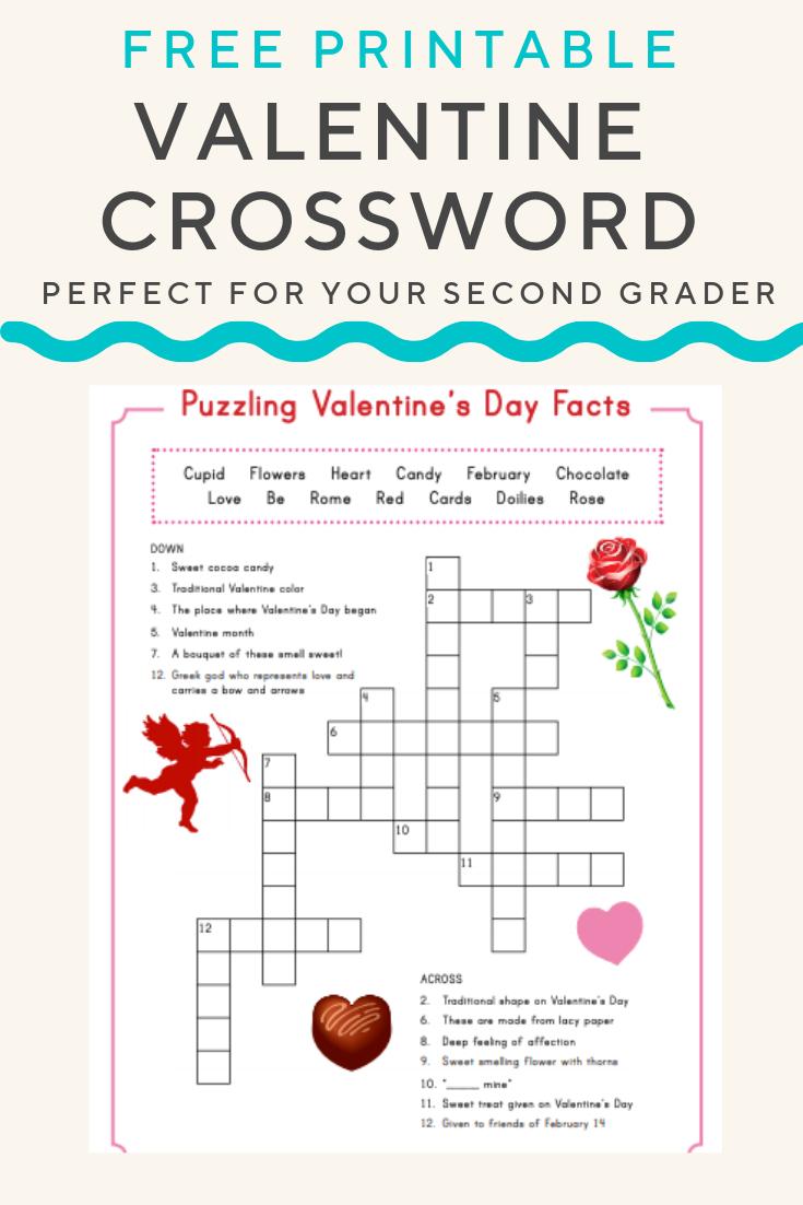 Valentine Crossword | Valentine's Day | Valentines Day Words - Printable Christian Valentine Puzzles