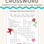 Valentine Crossword | Valentine's Day | Valentines Day Words   Printable Crossword Puzzles #3