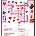 Valentine Day Crossword Worksheet   Free Esl Printable Worksheets   Free Printable Valentines Crossword