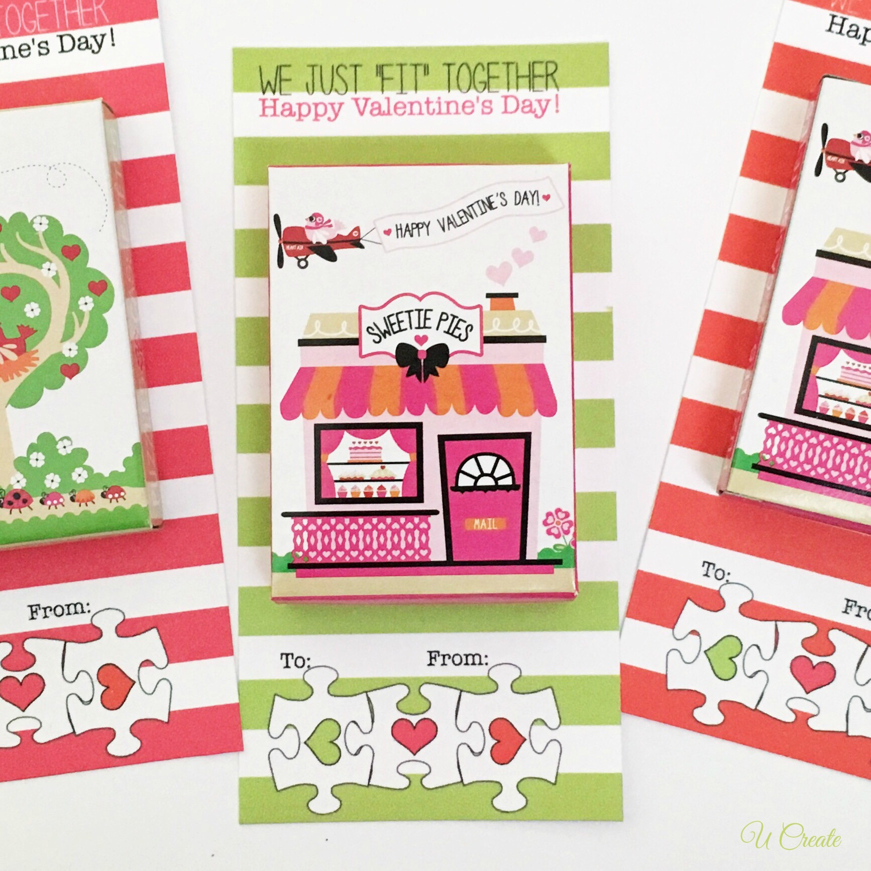 Valentine Puzzle Printables - U Create - Free Printable Valentine Puzzle