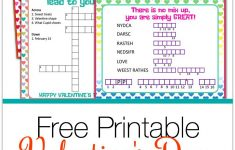 Valentine's Day Puzzle Cards {A Free Printable} | Valentine's Day – Free Printable Valentine Puzzle