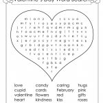 Valentines Day Word Search Large Light Pink Valentine S Crossword   Free Printable Valentines Crossword
