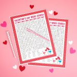 Valentine's Day Word Search Printable   Happiness Is Homemade   Printable Valentine Heart Puzzle