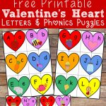 Valentine's Heart Letters And Phonics Puzzles Free Printable – Free Printable Valentine Puzzles For Adults