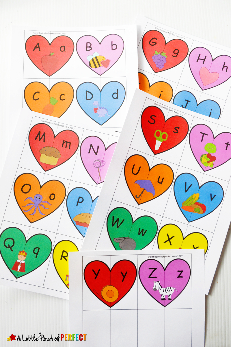 Valentine's Heart Letters And Phonics Puzzles Free Printable - - Printable Valentine Heart Puzzle