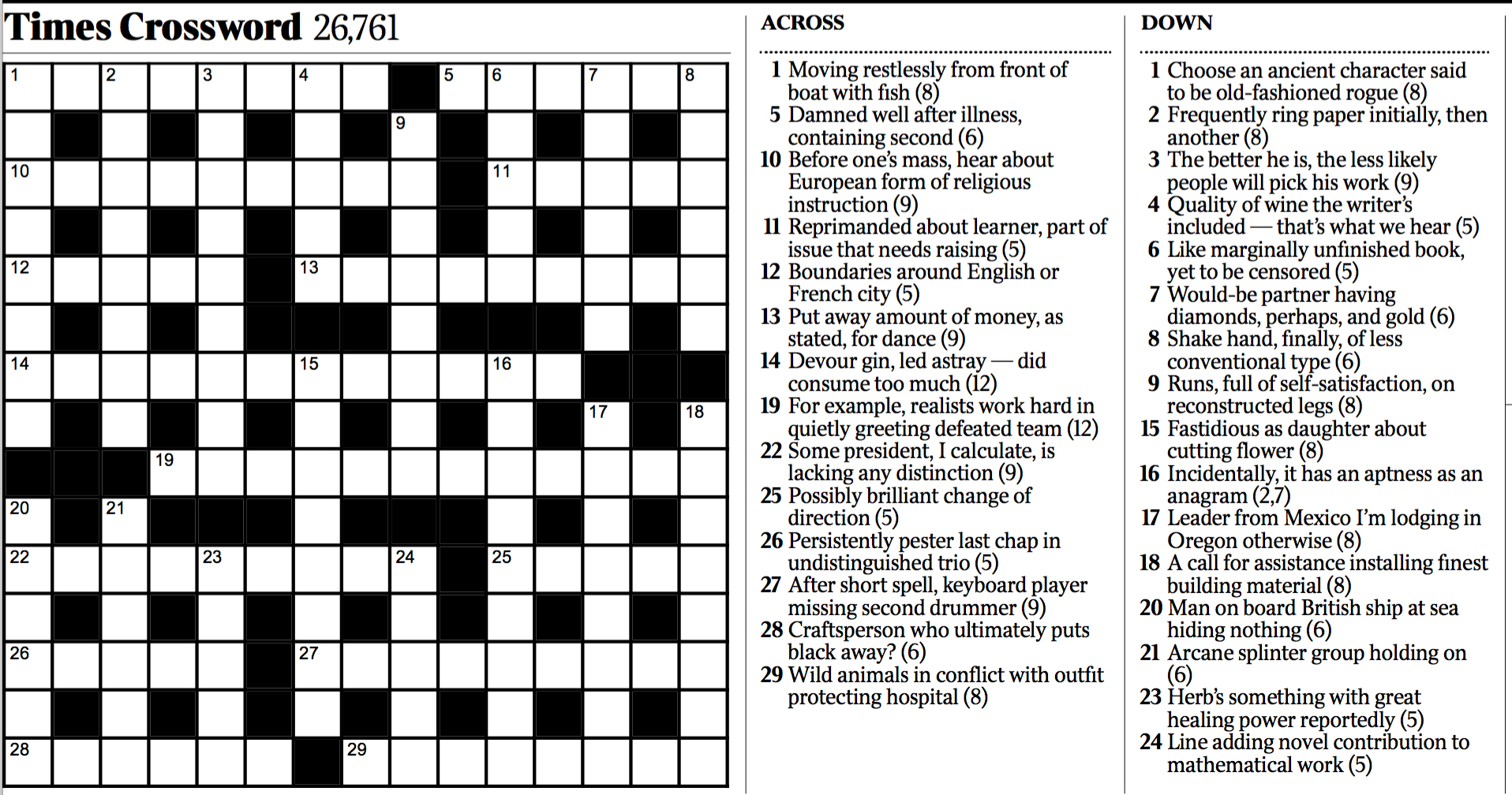 Variety: Cryptic Crossword - The New York Times - Printable Ny Times Crossword Puzzles