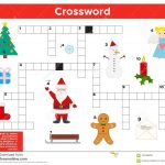 Vector Christmas, New Year Crossword In English. Stock Vector   New Year Crossword Puzzle Printable