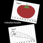 Vegetable Number Puzzles For Kids   Pre K Pages   Printable Number Puzzles 1 10