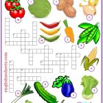 Vegetables Esl Printable Crossword Puzzle Worksheets For Kids   Printable Crossword Puzzles Esl