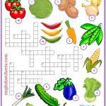 Vegetables Esl Printable Crossword Puzzle Worksheets For Kids   Printable Crossword Puzzles Esl