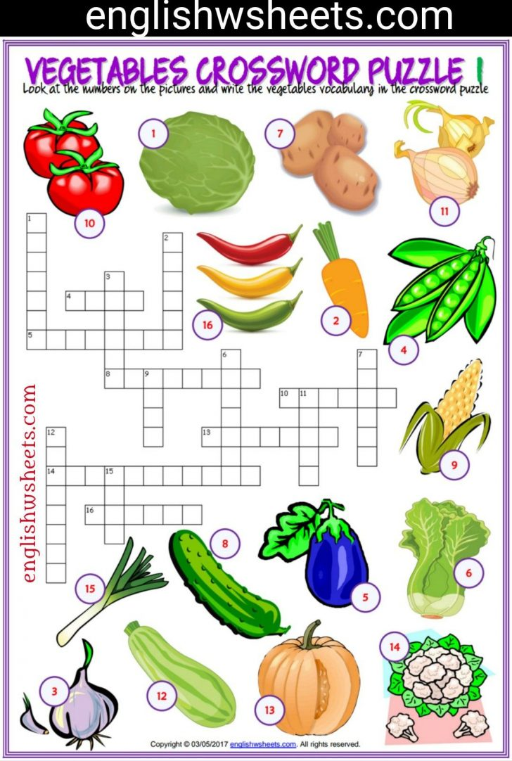 Printable Crossword Puzzles Esl