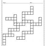 Verb Tense Crossword Puzzle Worksheet   5Th Grade Crossword Puzzles Printable