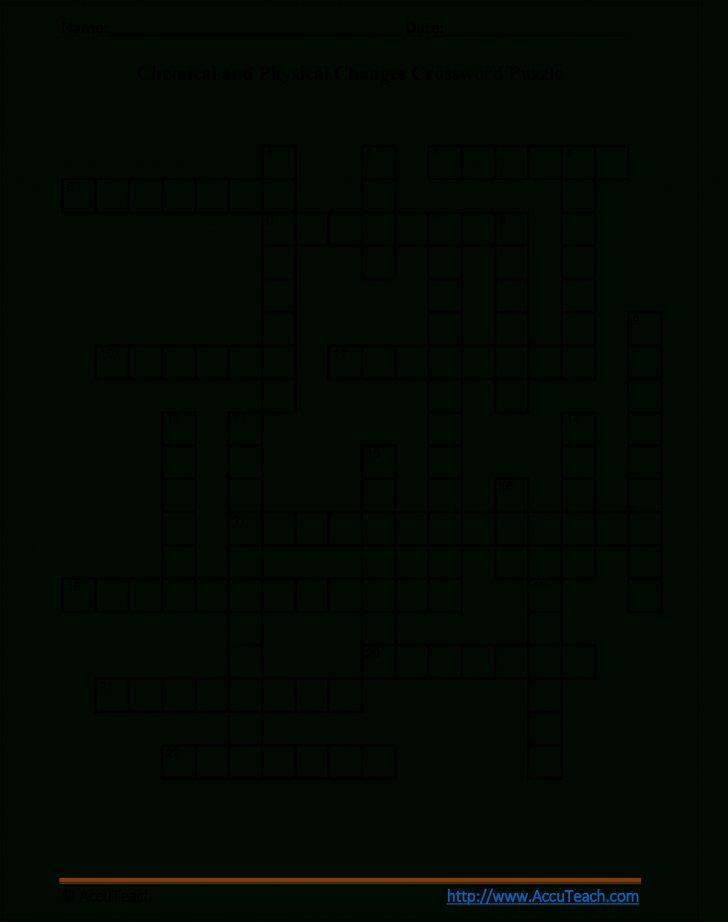 Printable Crossword Puzzles 5Th Grade