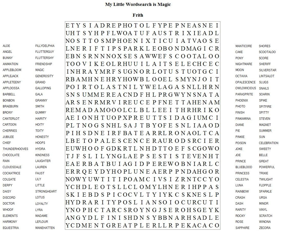 Very Hard Word Searches Printable | Frith Has Brought Us Another - Printable Word Search Puzzle Difficult
