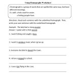 Vocabulary Worksheets | Homograph Worksheets   Printable Homograph Puzzles