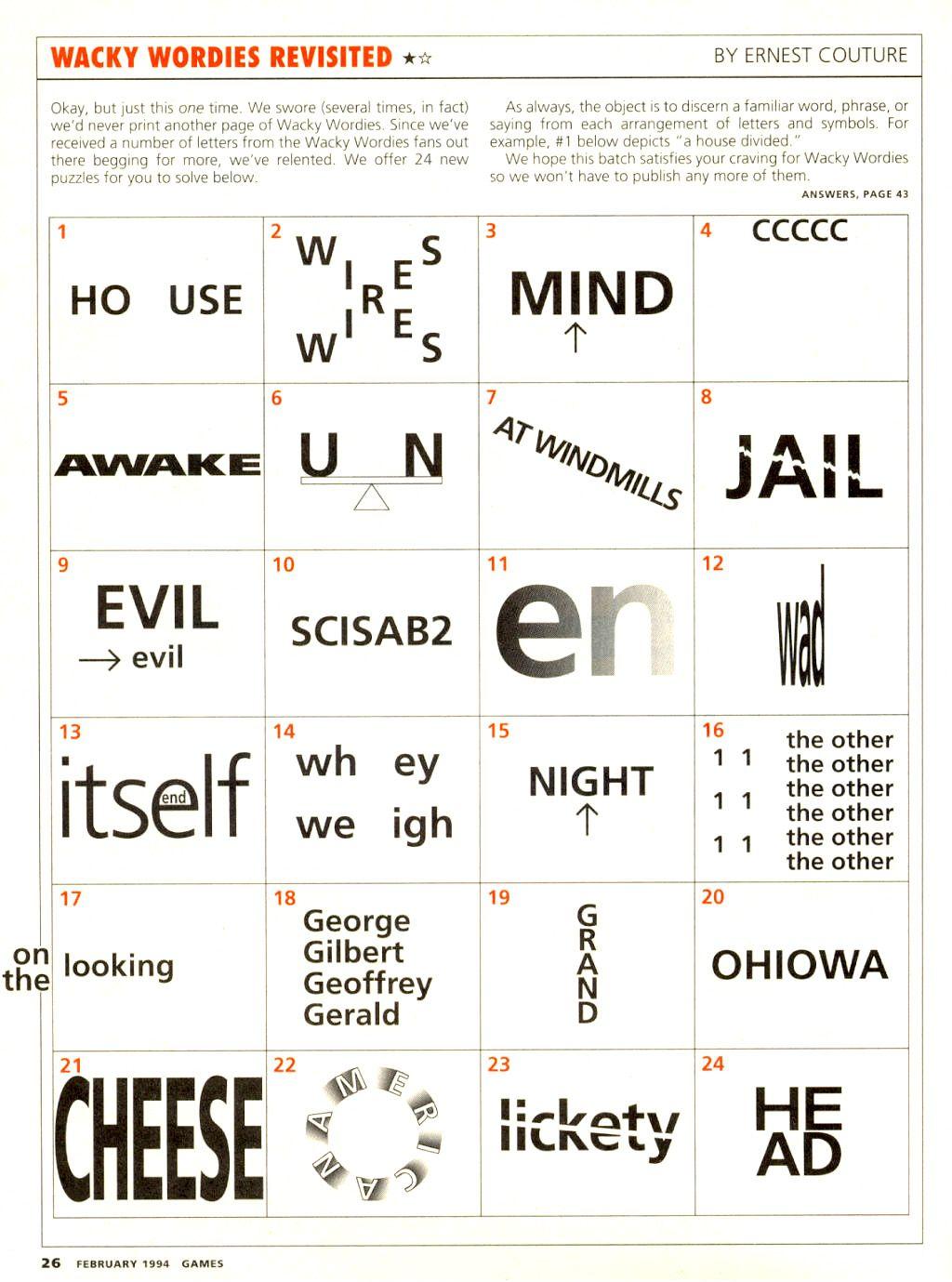Wackie Wordies #68 | Wacky Words | Word Puzzles, Brain Teaser - Printable Mind Puzzle Games