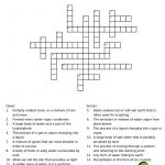 Water Cycle Crossword Puzzle. Great For Environmental Science   Vocabulary Crossword Puzzle Printable