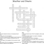 Weather And Climate Crossword   Wordmint   Printable Weather Crossword Puzzle