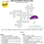 Weather Crossword Puzzle Answer Key   Printable Weather Crossword Puzzle
