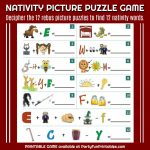 "Wendy Legendre On Twitter: ""nativity Christmas Picture Puzzle Game   Printable Nativity Puzzle"