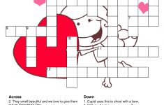 What A Great Way To Spend The Night With Your Love Then Being Smart – Printable Valentine Crossword Puzzles