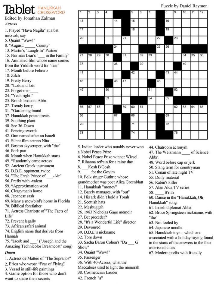 You Magazine Printable Crossword Puzzles