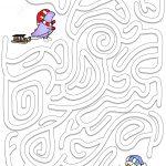 Winter Maze Puzzle | Free Printable Puzzle Games   Printable Puzzle Mazes