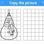 Winter Puzzle & Coloring Pages: Printable Winter Themed Activity   Printable Winter Puzzle
