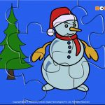 Winter Snowman   Jigzaw Puzzles For Kids | Printables For Kids   Printable Snowman Puzzle