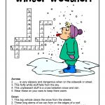 Winter Weather Crossword Puzzle Answer Key | Woo! Jr. Kids Activities   Printable Crossword Puzzles Winter