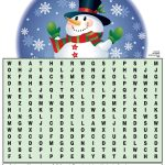 Winter Word Search | Kids Activities   Printable Snowman Puzzle