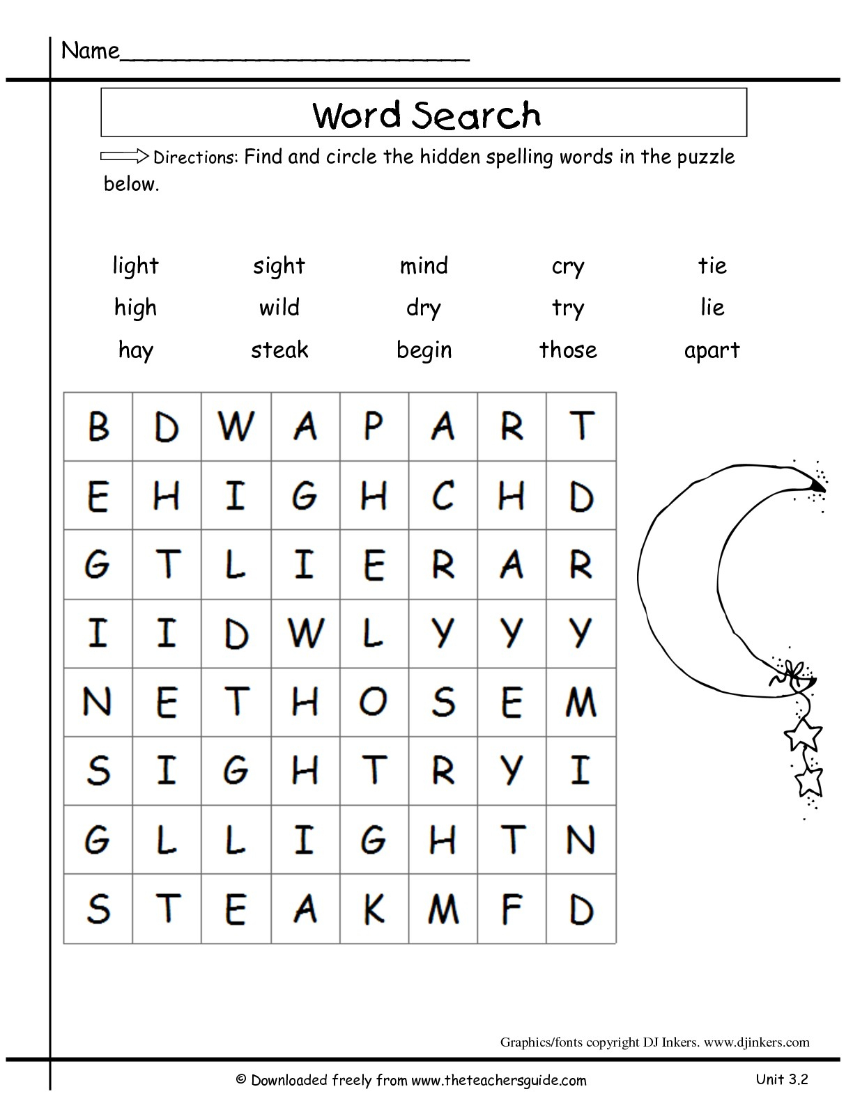 Wonders Second Grade Unit Three Week Two Printouts - Printable Crossword Puzzle For 2Nd Graders