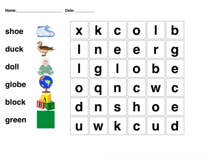 Printable Word Puzzles For 6 Year Olds