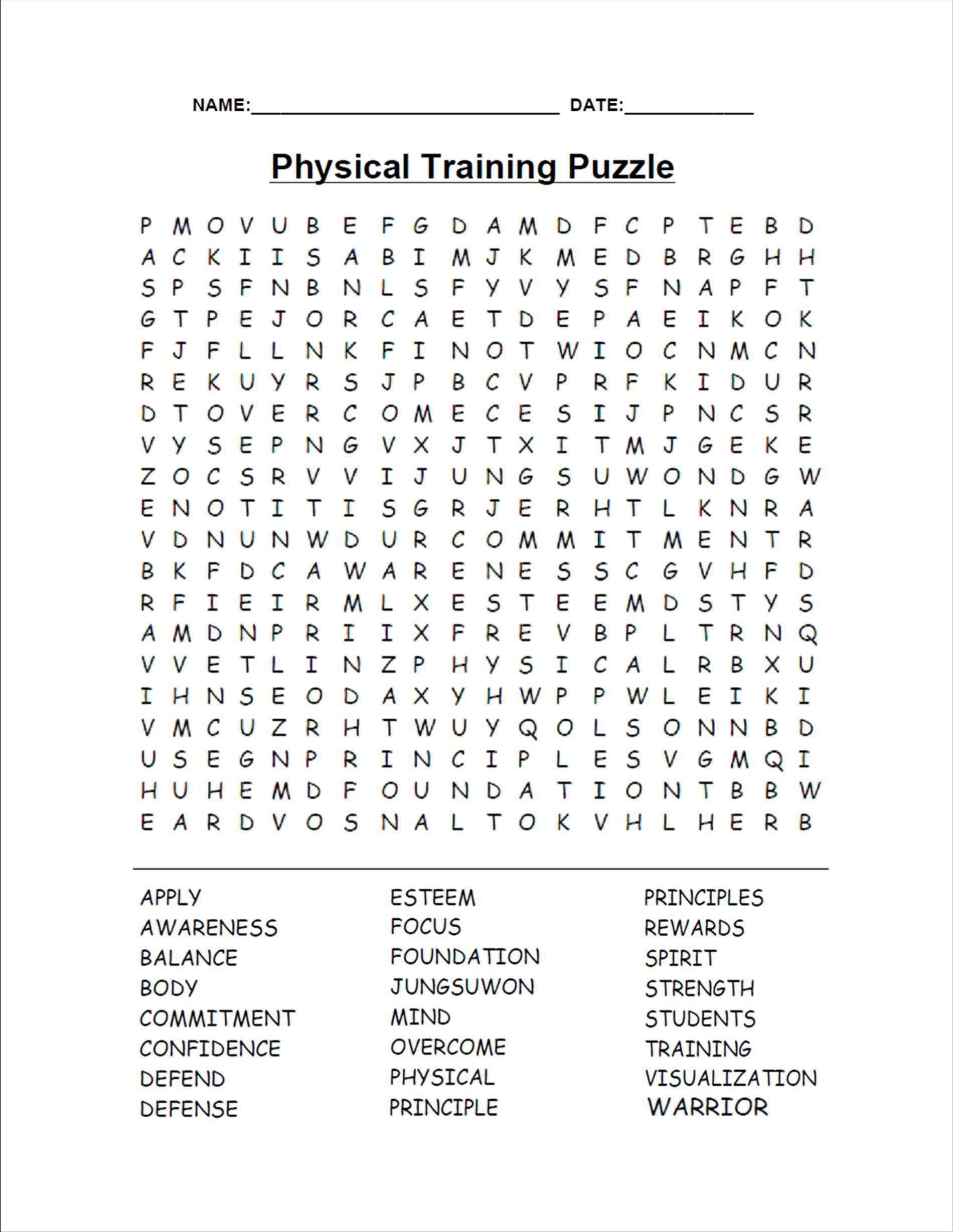 Word Search Games For Adults And Teens - Best Coloring Pages For Kids - Printable Word Puzzle Games Adults