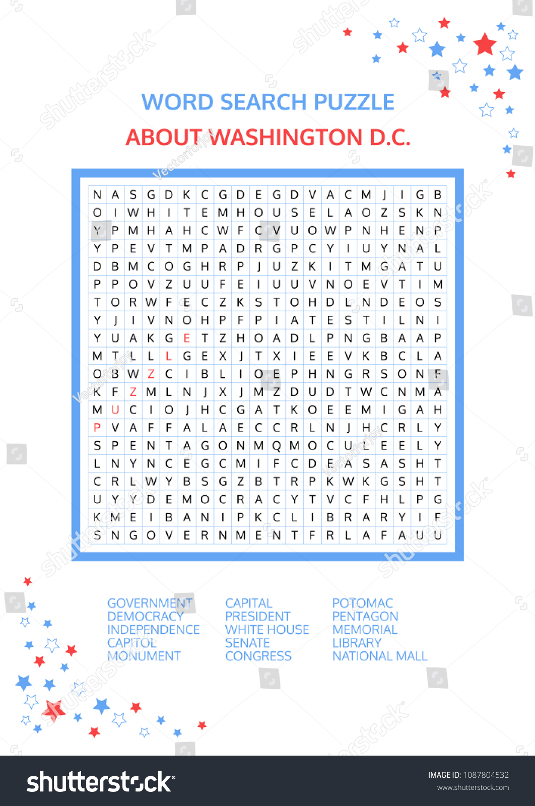 Word Search Puzzle Vector Game About Stock Vector (Royalty Free - Printable Drop Line Puzzles