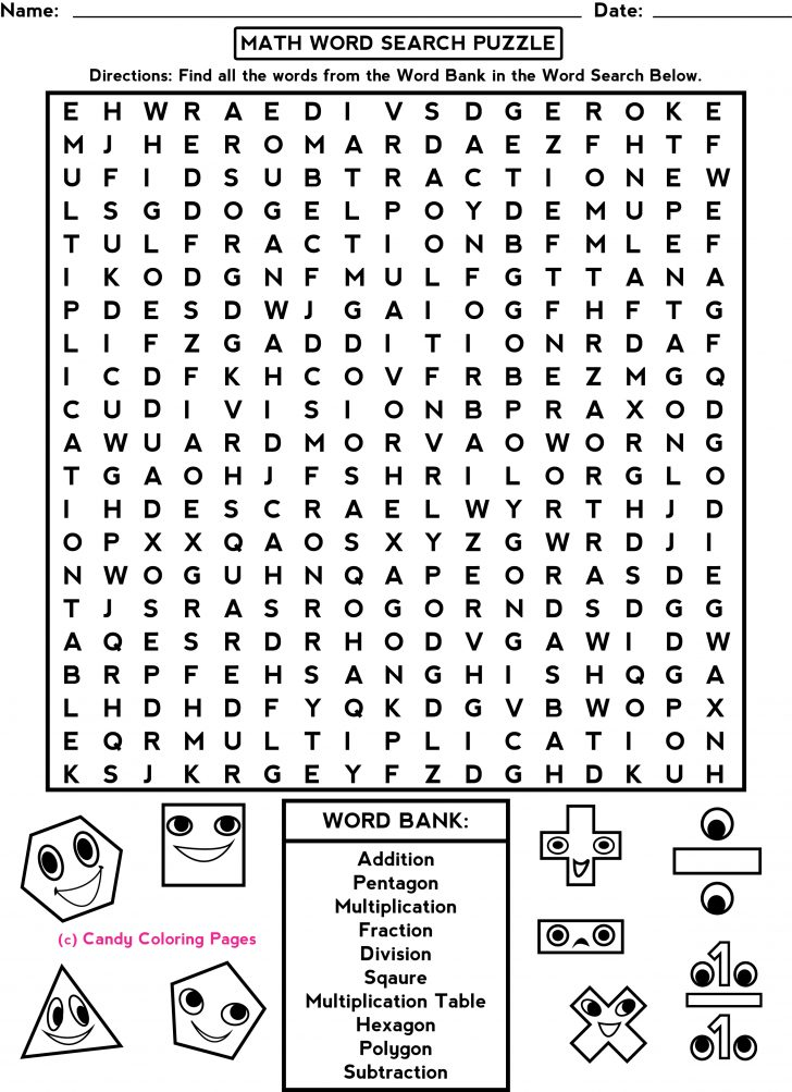 Worksheet Word Puzzle