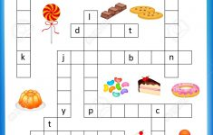 Worksheet – Complete The Crossword Puzzle Sweets Worksheet For – Worksheet On Puzzle