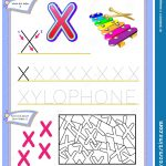 Worksheet For Kids With Letter X For Study English Alphabet. Logic   X Puzzle Worksheet
