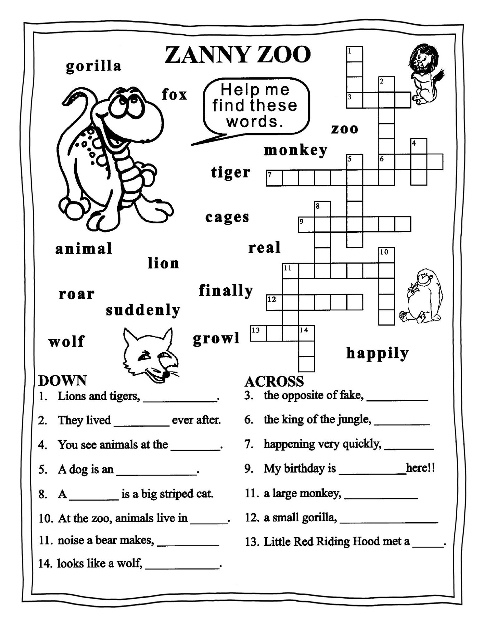 Worksheets For Grade 3 English | Learning Printable | Educative - Printable Ela Puzzles