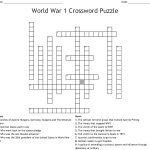 World War 1 Crossword Puzzle Crossword   Wordmint   Printable Military Crossword Puzzles