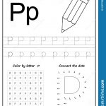 Writing Letter P. Worksheet. Writing A Z, Alphabet, Exercises Game   Letter P Puzzle Printable