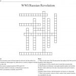 Wwi/russian Revolution Crossword   Wordmint   Printable Russian Crosswords