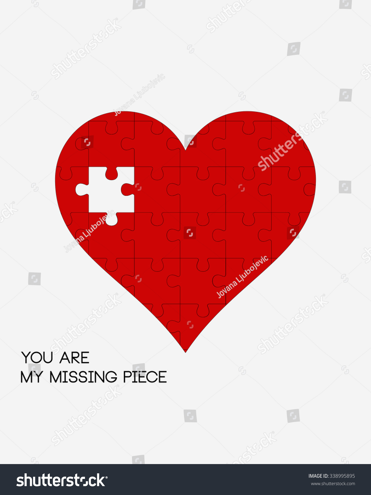 You My Missing Piece Puzzle Heart Stock Vector (Royalty Free - Print My Puzzle