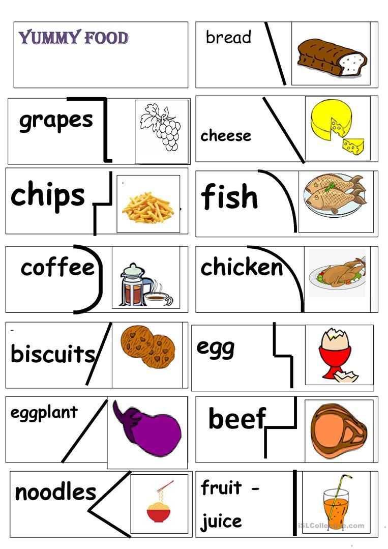 Yummy Food Puzzle Worksheet - Free Esl Printable Worksheets Made - Printable Food Puzzle