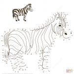 Zebra Dot To Dot | Free Printable Coloring Pages   Printable Zebra Puzzle