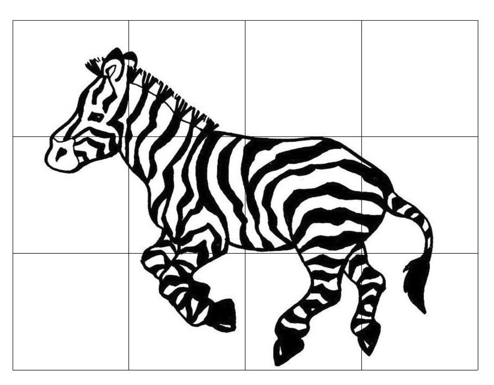 Zebra-Puzzle-For-Kids | Képek-Állatok - Zebra Puzzle, Animal Crafts - Printable Zebra Puzzles
